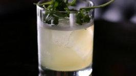 Pineapple and Arugula Smash Cocktail