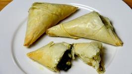 Spinach And Feta Filo Triangles