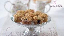 Muffins aux myrtilles et streusel