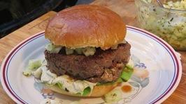 Mediterranean Bison Burgers