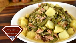 Green Beans And Potatoes With Smoked Turkey Wings  Holiday Series