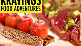 Tuna Crudo and Slow Cooked Bass - Norwegian Breakaway