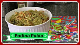 Pudina Pulao  Mint Flavored Rice - Quick Fix Lunch Recipe