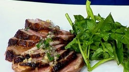 Chef Michael Adams- Tea Smoked Duck Breast With Ginger Banyuls Vinaigrette
