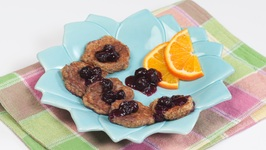 Honey French Toast with a Blueberry Sauce