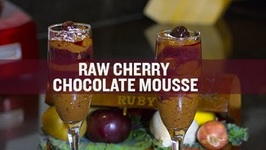 The BEST Raw Cherry Chocolate Mousse Ever (Dairy-Free And Egg-Free)!