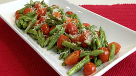 Oven Roasted Italian Green Beans and Tomatoes