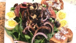 Spinach Salad With A Warm Vinaigrette