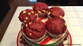 Red Velvet Muffins - Christmas