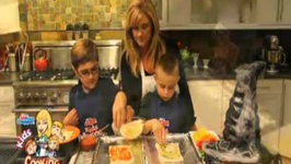 The Kids are Creating Food Fun with Monster Pizzas for Halloween
