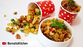 Cornflakes chaat - Indian street foods, street food, Indian chaat