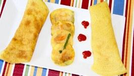 Rava Besan Dahi Cheela Chilla Puda Pudlas Semolina Chickpea Flour Savory Pancakes