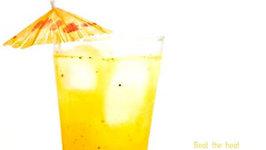 Achari Funda Mocktail -  Indian Pickle and Mango Drink Recipe - Summer Drinks