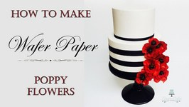 Wafer Paper Poppies