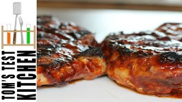 Grilled Pork Chops With Guinness BBQ Sauce