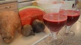How to Make Beet Sweet Potato and Watermelon Juice