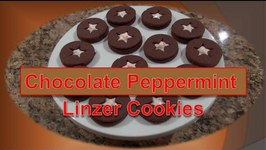 Chocolate Peppermint 'Linzer' Cookie
