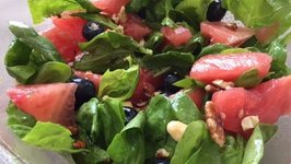 Summer Salad Recipes - Watermelon Spinach Salad  (Vegan, Gluten free, Clean Eating)