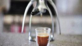 ROK Espresso Maker - Cortado with Coconut Cream