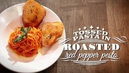 Pasta In Red Pepper Pesto  Quick Easy Recipe