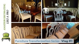 Furniture Transformation Series Vlog  1 - Painting Metallic Dining Chairs
