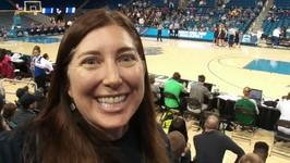 My First NCAA Women's Basketball Game 2017