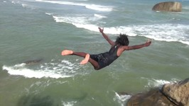 Galle Cliff Divers in Sri Lanka