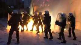 Police Face Volley of Molotov Cocktails as Latest Bailout Cuts Meet Anger in Athens