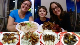 Chinese Sichuan Food - Lamb Skewers And Dry Spicy Dumplings  Gay Family Mukbang - Eating Show