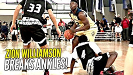 Zion Williamson Breaks Defenders Ankles And Hits The Shot Adidas Gauntlet Day 2