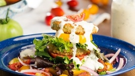 Fried Green Tomato And BLT Salad