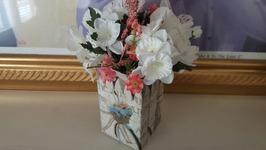 DIY Flower Box Upcycle  Dollar Tree Crafts  Mod Podge