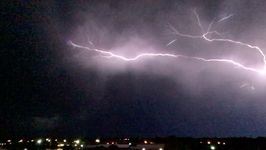 Spectacular Video Shows Lightning Storm Over Norman, Oklahoma