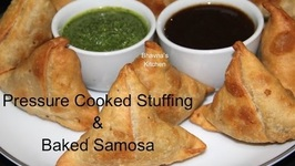 Pressure Cooked Stuffing And Baked Samosa