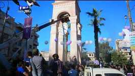 Idlib City's Clock Square, Badly Damaged in Airstrikes, Is Restored