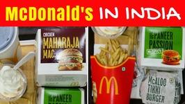 McDonald's in India - Eating Indian McDonalds menu taste test in Kolkata