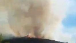 Santee Wildfire Captured Up Close on Camera