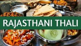 Indian Thali - Eating Indian Food Rajasthani Cuisine in Jodhpur, India