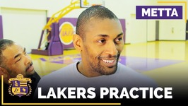 Metta World Peace Goes Back In Time For Lakers Vs Celtics Game 7