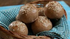 How to make Multigrain Burger Bun - Homemade Burger Bun Recipe - Beat Batter Bake With Upasana