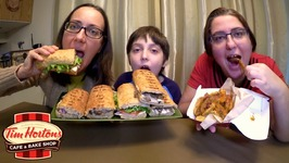 Steak And Cheese Panini, Extreme Italian And Loaded Wedges Tim Hortons  Mukbang - Eating Show