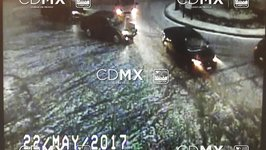 Hail and Water Fill Streets of Mexico City