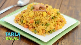 Corn And Vegetable Pulao - Recipe In Hindi
