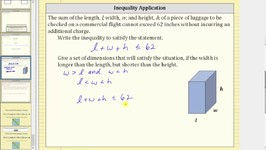Write and Solve an Inequality to Represent a Situation Luggage Dimensions