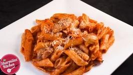 Red Sauce Pasta - Mushroom Pasta In Creamy Tomato Sauce With Indian Twist