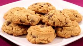 No Flour Peanut Butter Chocolate Chip Cookies