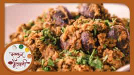 Bharli Vangi - Stuffed Brinjals Recipe by Archana - Maharashtrian Main Course Dish in Marathi
