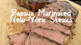Papaya Marinated Angus New York Strip Steaks ft. Crenova Vacuum Sealer