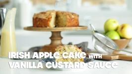 Irish Apple Cake With Vanilla Custard Sauce