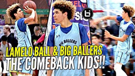 LaMelo Ball Does His Best Lonzo And LiAngelo Impression W That Melo Sauce On Top